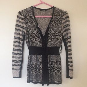 Nic + Zoe black onyx cardigan sweater. Sz S